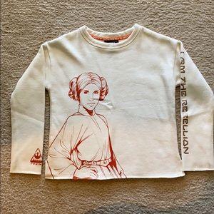 STAR WARS (GIRLS) Princess Leia Cream Sweater